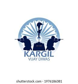 Kargil vijay diwas , Amar Jawan in hindi text of Amar Jawan ,Vector Illustration.