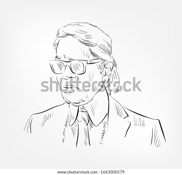 Karl Lagerfeld German Creative Director Fashion Stock Vector Royalty Free 1663000579