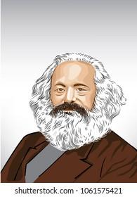 Karl Marx (1818 –1883).German philosopher, economist, historian, political theorist, sociologist, journalist and revolutionary socialist.