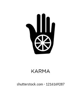 Karma icon. Karma symbol design from India collection. Simple element vector illustration on white background.
