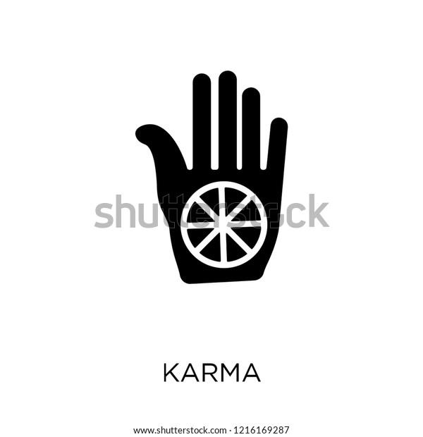 Karma zeichen für Symbol für
