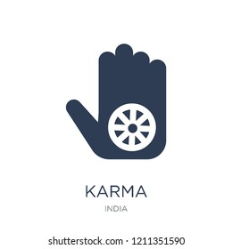 Karma icon. Trendy flat vector Karma icon on white background from india collection, vector illustration can be use for web and mobile, eps10