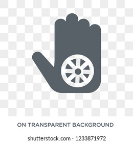 Karma icon. Trendy flat vector Karma icon on transparent background from india collection.