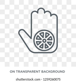 Karma icon. Trendy flat vector Karma icon on transparent background from india collection. High quality filled Karma symbol use for web and mobile