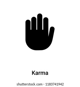 Karma icon vector isolated on white background, logo concept of Karma sign on transparent background, filled black symbol