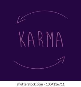 karma in vector text