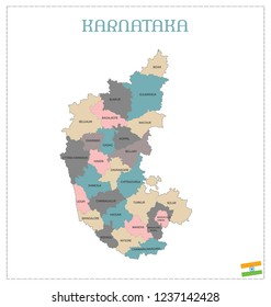 KARNATAKA VECTOR MAP