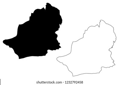 Kars (Provinces of the Republic of Turkey) map vector illustration, scribble sketch Kars ili map