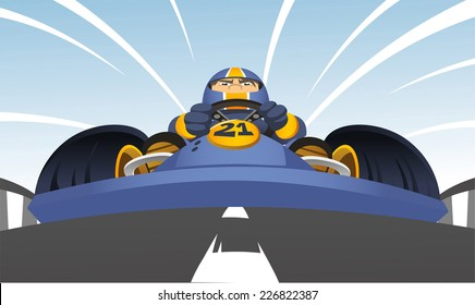 kart racer cartoon illustration