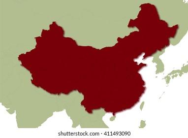 Karte Chinas mit Provincen und Anrainer