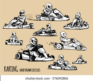 Karting sketch illustration