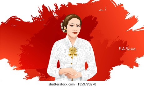 kartini images stock photos vectors shutterstock https www shutterstock com image vector kartini day r heroes women human 1353798278