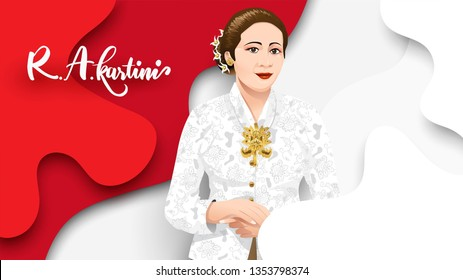 kartini images stock photos vectors shutterstock https www shutterstock com image vector kartini day r heroes women human 1353798374
