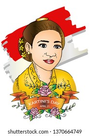Kartini Day, R A Kartini the heroes of women and human right in Indonesia. 21 April.