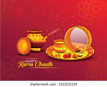 Karva Chauth is a one-day festival celebrated by Hindu women