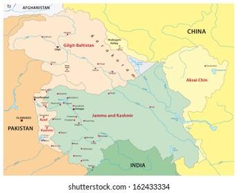 Kashmir Map Images, Stock Photos & Vectors | Shutterstock