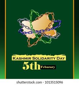 Kashmir Solidarity Day-Vector Illustration