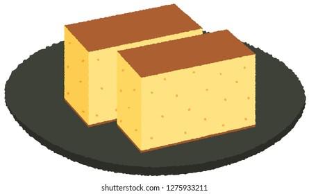 Kasutera (japanese popular sponge cake)