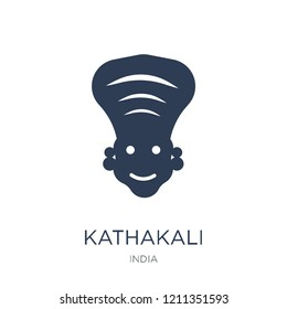 Kathakali icon. Trendy flat vector Kathakali icon on white background from india collection, vector illustration can be use for web and mobile, eps10