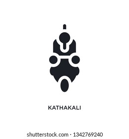 kathakali isolated icon. simple element illustration from india concept icons. kathakali editable logo sign symbol design on white background. can be use for web and mobile