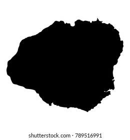 Kauai map. Island silhouette icon. Isolated Kauai black map outline. Vector illustration.