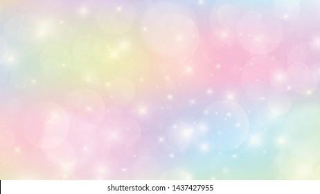 Kawaii background with rainbow princess gradient.