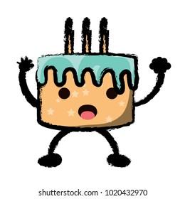 kawaii birthday cake icon