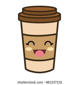 kawaii cartoon coffee portable cup