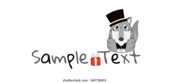Kawaii Husky Malamute Wolf With Christmas Masquerade Outfits Object Isolated On White Background