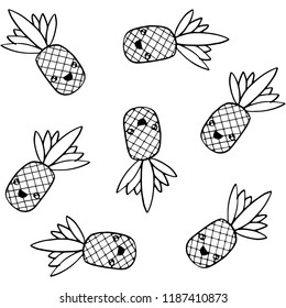 Pineapple Coloring Pages Images Stock Photos Vectors Shutterstock