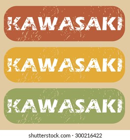 Kawasaki on colored background