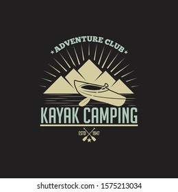 Kayak - Canoe Badge & Logo