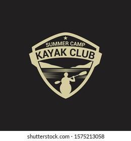 Kayak - Canoe Badge & Logo
