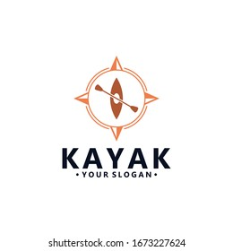 Kayak Logo Vector Design Image Stock