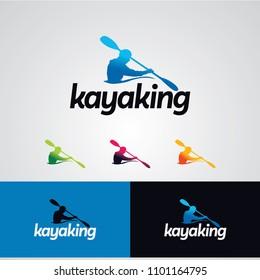 Kayaking Logo Designs Template