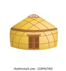 Kazakh house yurt. Vector.