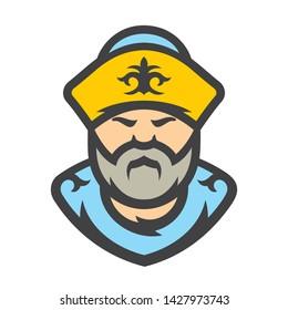 Kazakh. Kazakhstan Vector Cartoon illustration