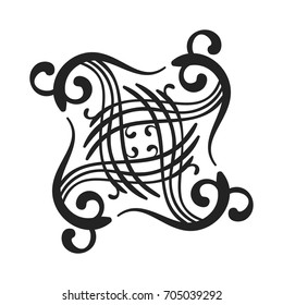 Kazakh national ornament with decorative Shanyrak in the middle, Isolated design element Vector