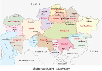 kazakhstan administrative map