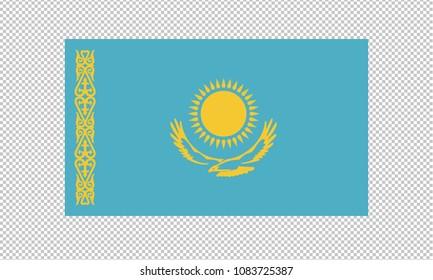Kazakhstan flag on transparent background. Kazakhstan flag Template for independence day. vector illustration