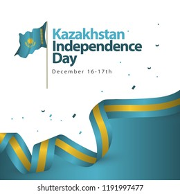 Kazakhstan Independence Day Vector Template Design Illustration