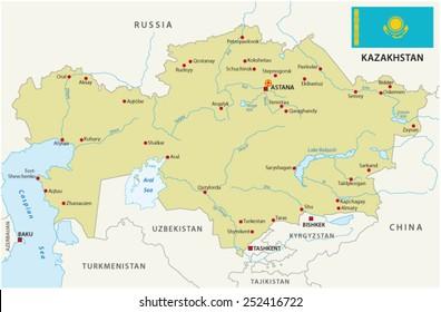 Kazakhstan Russia Map.Russia Kazakhstan Map Images Stock Photos Vectors Shutterstock