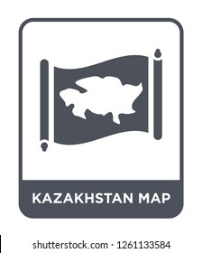 kazakhstan map icon vector on white background, kazakhstan map trendy filled icons from Countrymaps collection, kazakhstan map simple element illustration
