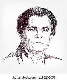 kazimir malevich vector sketch portrait