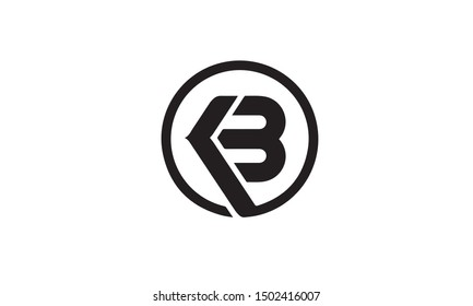 KB or BK and B or K abstract  monogram letter mark vector logo template