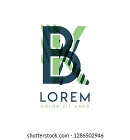 KB colorful logo design with green and dark green color that can be used for creative business and advertising. BK logo is filled with bubbles and dots, can be used for all areas of the company