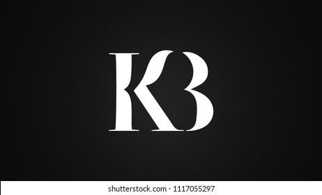 KB Letter Logo Design Template Vector
