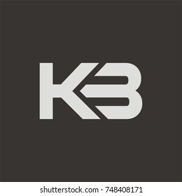 KB logo initial letter design template vector
