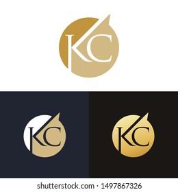 KC Or CK Letter logo design template
