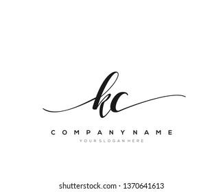 KC handwriting initial  logo vector